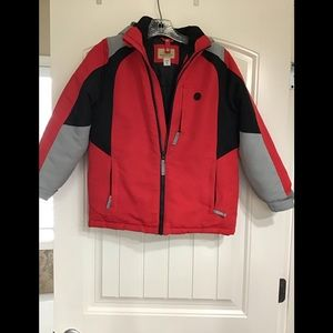 Boys Roebuck & Co red black and grey jacket